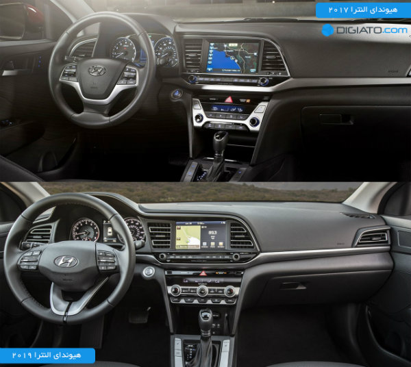 Hyundai Elantra 2019 vs 2017 interior