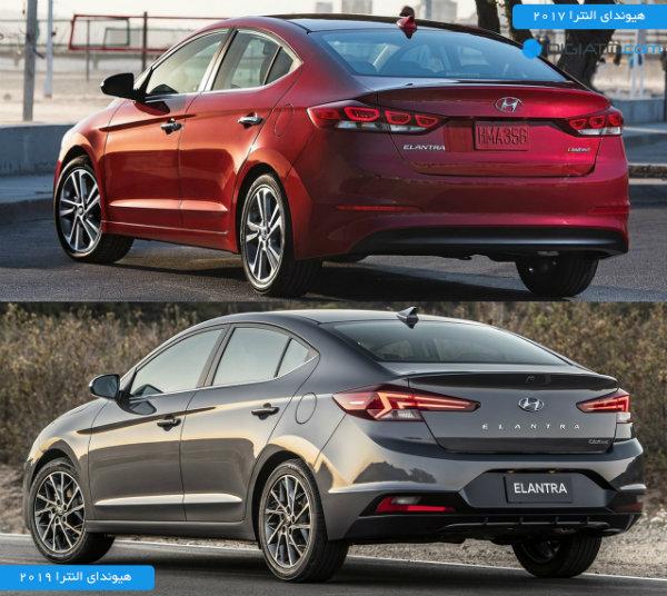 Hyundai Elantra 2019 vs 2017 rear
