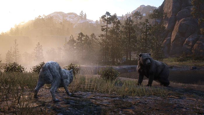 حیوانات در Red Dead Redemption 2