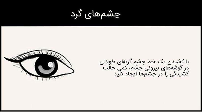 مدل خط چشم برای چشم درشت