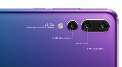 هوآوی P20 پرو از دوربین سهقلوی ساخت لایکا بهره میبرد.